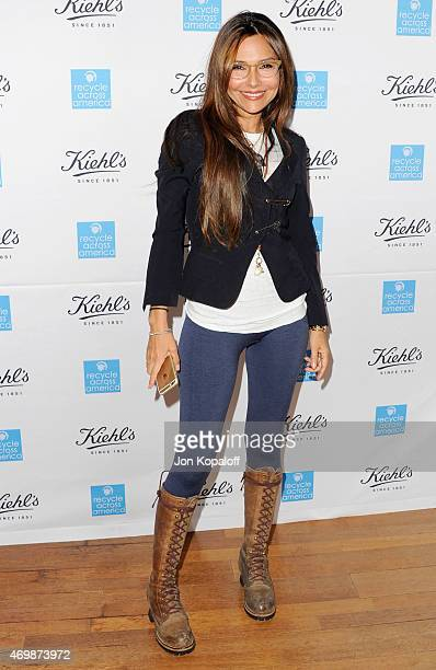 Actress Vanessa Marcil arrives at Kiehl's 2015 Earth Day Project With Elizabeth Olsen And Maggie Q at Kiehls Since 1851 Santa Monica Store on April...