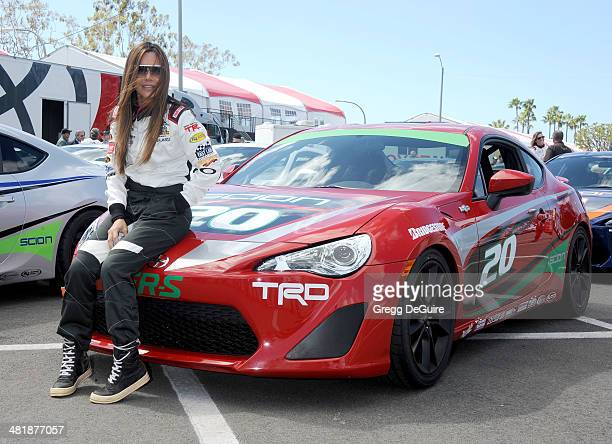 Actress Vanessa Marcil arrives at press day for the 2014 Toyota Pro/Celebrity Race on April 1 2014 in Long Beach California