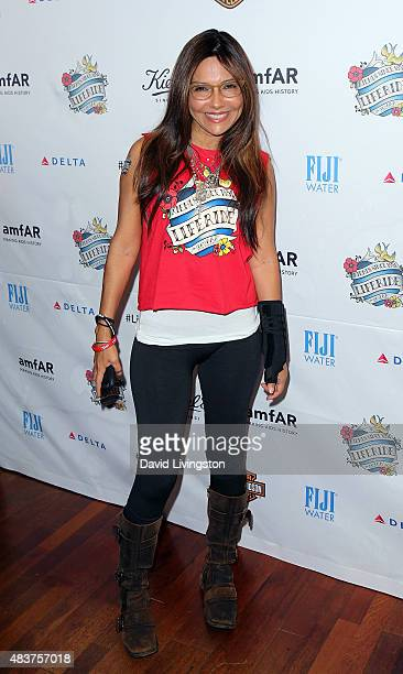 Actress Vanessa Marcil attends the 6th Annual Kiehl's LifeRide for amfAR celebration at Kiehl's Since 1851 on August 12 2015 in Santa Monica...