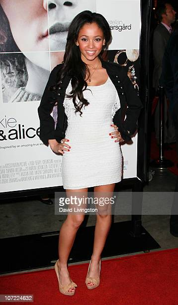 Actress Vanessa Morgan attends the premiere of 'Frankie and Alice' at the Egyptian Theatre on November 30 2010 in Hollywood California