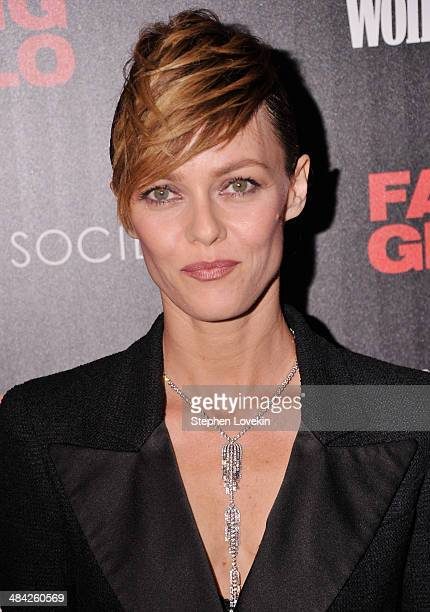 Actress Vanessa Paradis attends the Cinema Society Women's Health screening of Millennium Entertainment's 'Fading Gigolo' at SVA Theatre on April 11...