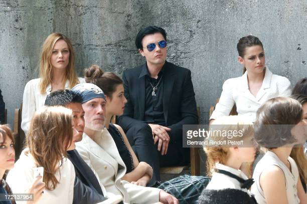 Actress Vanessa Paradis Michael Pitt and Kristen Stewart attend the Chanel show as part of Paris Fashion Week HauteCouture Fall/Winter 20132014 at...