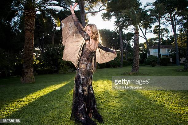 Actress Vanessa Paradis poses for photographs at the amfAR's 23rd Cinema Against AIDS Gala at Hotel du CapEdenRoc on May 19 2016 in Cap d'Antibes...