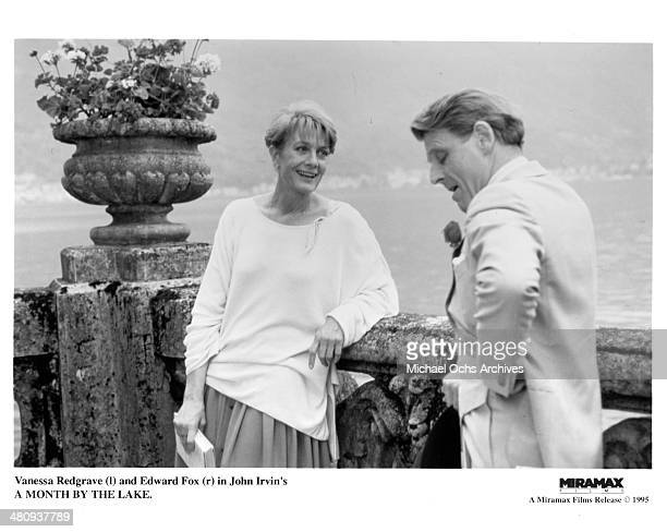 Actress Vanessa Redgrave and Edward Fox in a scene from the movie 'A Month by the Lake ' circa 1995