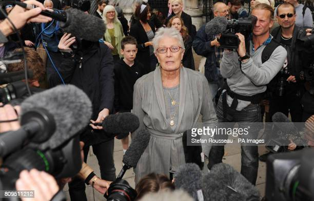 Actress Vanessa Redgrave arrives at the High Court to show her support for the residents of Dale Farm in Essex as they are appealing against a...