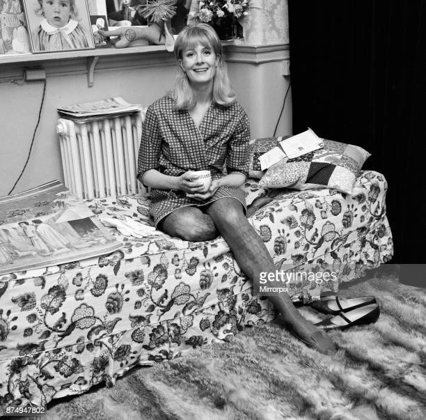 Actress Vanessa Redgrave in her dressing room at Wyndham's Theatre 9th May 1966