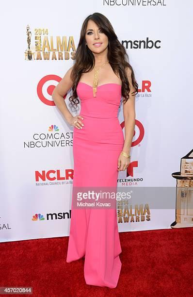 Actress Vanessa Villela attends the 2014 NCLR ALMA Awards at the Pasadena Civic Auditorium on October 10 2014 in Pasadena California