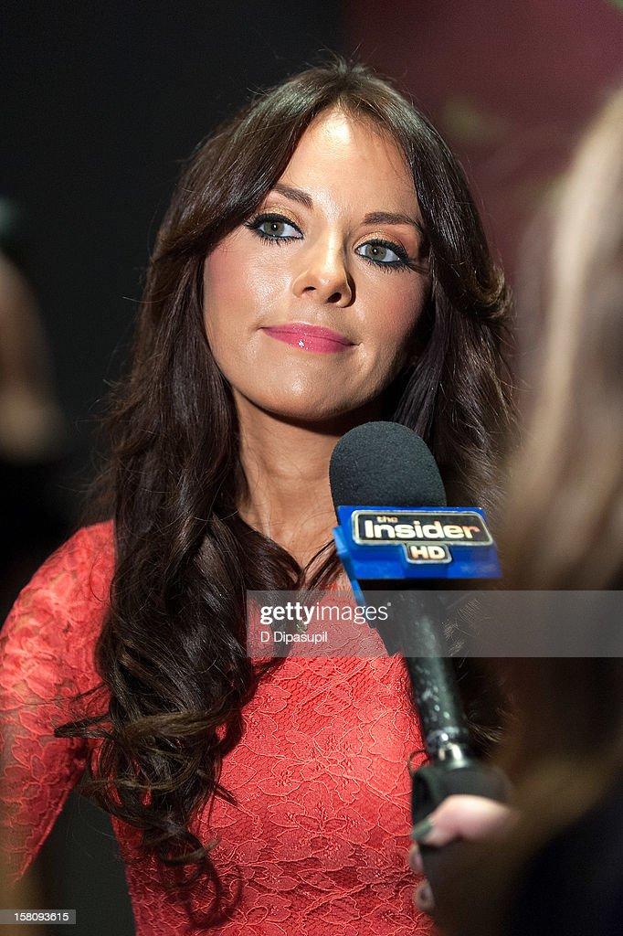 Actress Vanessa Villela attends the NASDAQ Opening Bell Ceremony celebrating Telemundo Media's new brand campaign at NASDAQ MarketSite on December 10, 2012 in New York City.