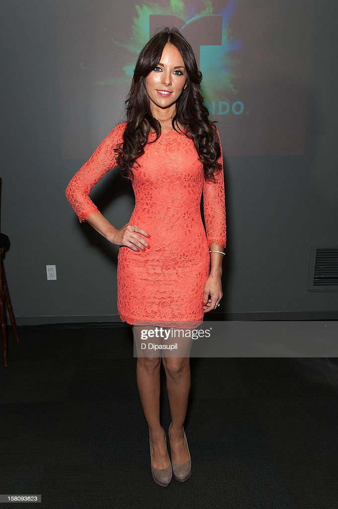 Actress Vanessa Villela attends the NASDAQ Opening Bell Ceremony celebrating Telemundo Media's new brand campaign at NASDAQ MarketSite on December 10, 2012 in New York City.