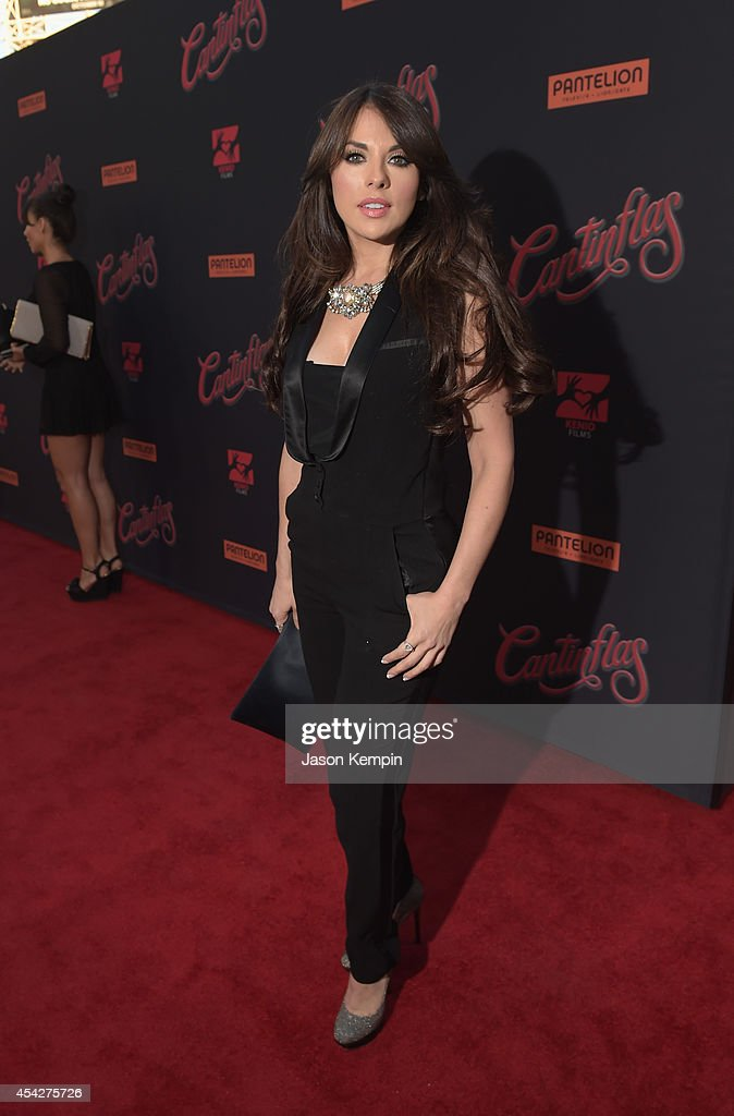 Actress Vanessa Villela attends the premiere of Pantelion Film's 'Cantinflas' at TCL Chinese Theatre on August 27 2014 in Hollywood California