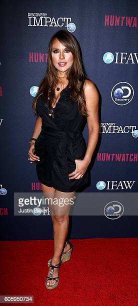 Actress Vanessa Villela attends the screening of Discovery Impact's 'Huntwatch' at NeueHouse Hollywood on September 15 2016 in Los Angeles California