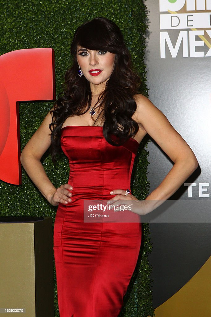 Actress Vanessa Villela poses for a photograph at The 2013 Billboard Mexican Music Awards Press Room at Dolby Theatre on October 9 2013 in Hollywood...
