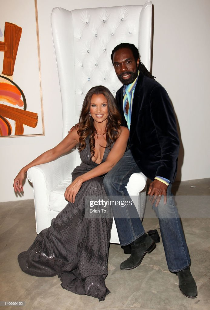 Actress Vanessa Williams and designer Kevan Hall attend Fashion Group International's Meet the Designer & the Muse at Ace Gallery on March 8, 2012 in Los Angeles, California.