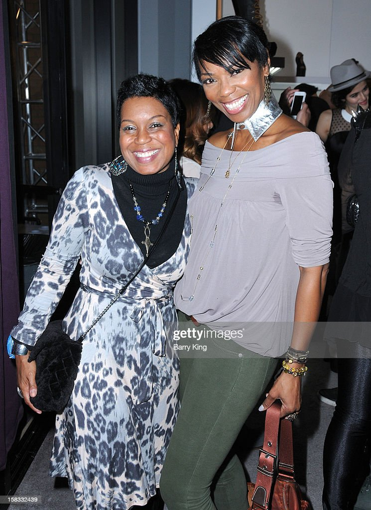 Actress Vanessa Williams (R) and guest attend the WHO CED In-Store Holiday Launch Party at Brigade LA on December 12, 2012 in Los Angeles, California.