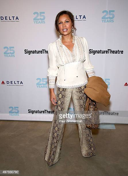 Actress Vanessa Williams attends 'Incident At Vichy' opening night party at Signature Theatre Company's The Pershing Square Signature Center on...