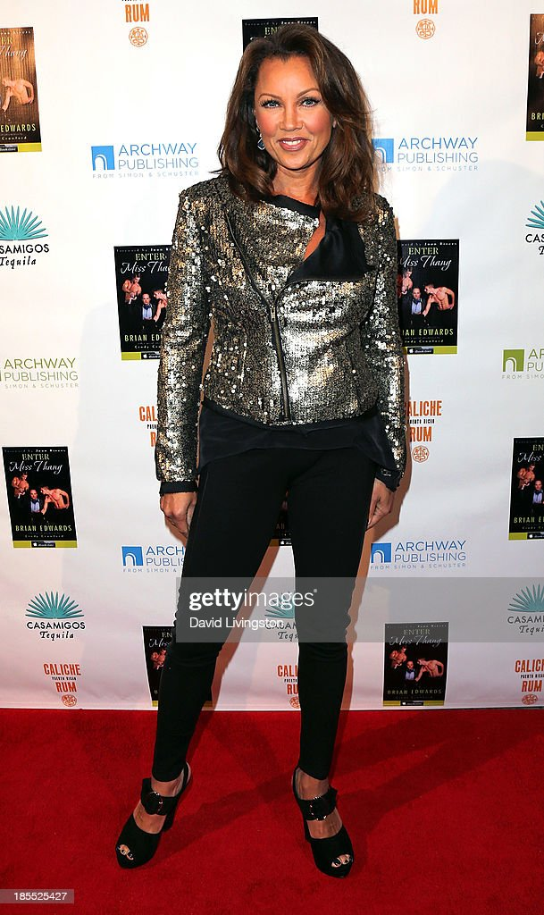 Actress Vanessa Williams attends the launch party for Brian Edwards' book 'Enter Miss Thang' at Cafe Habana on October 21, 2013 in Malibu, California.