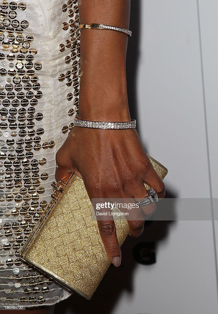 Actress Vanessa Williams (purse & jewelry detail) attends the NAACP Image Awards Pre-Gala at Vibiana on January 31, 2013 in Los Angeles, California.