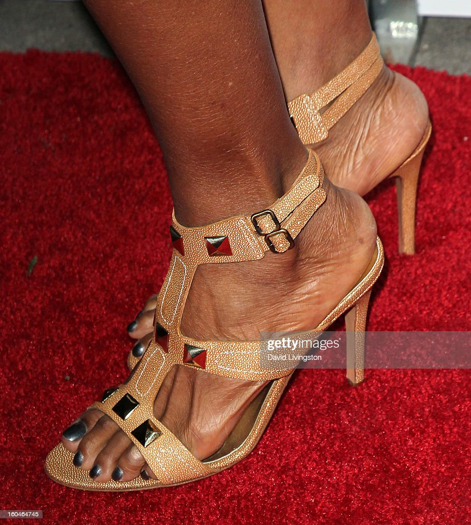Actress Vanessa Williams (shoe detail) attends the NAACP Image Awards Pre-Gala at Vibiana on January 31, 2013 in Los Angeles, California.