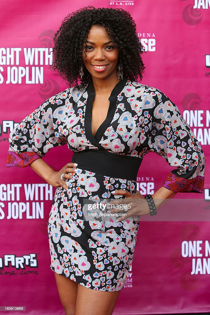 Actress Vanessa Williams attends the opening night of 'One Night With Janis Joplin' at Pasadena Playhouse on March 17, 2013 in Pasadena, California.