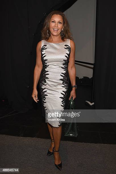 Actress Vanessa Williams poses backstage at Carmen Marc Valvo Women's and Men's Collection S/S 2016 during New York Fashion Week The Shows at The Arc...
