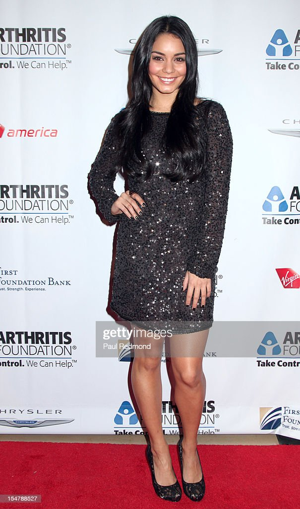 Actress Vannessa Hudgens attends The Arthritis Foundation's Annual Gala Honoring Danny Glover at The Beverly Hilton Hotel on October 25, 2012 in Beverly Hills, California.