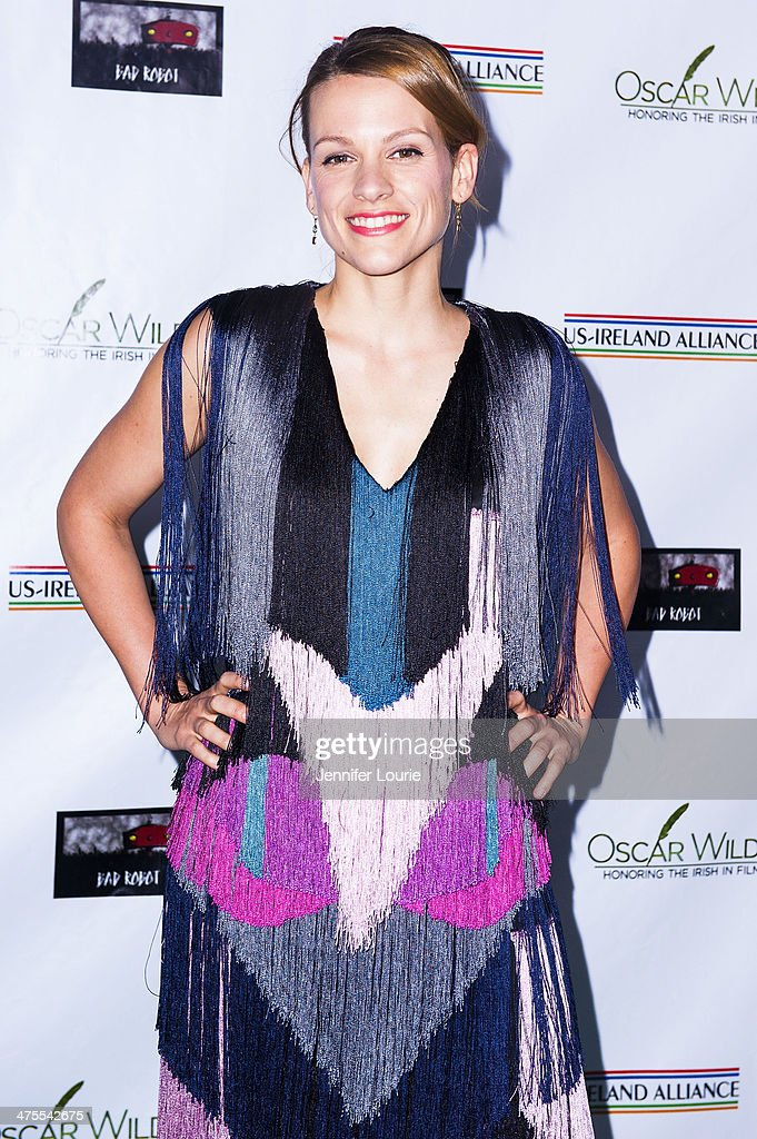 Actress Veerle Baetens attends the 9th Annual 'Oscar Wilde: Honoring The Irish In Film' Pre-Academy Awards event at Bad Robot on February 27, 2014 in Santa Monica, California.