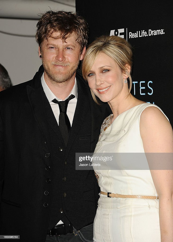 Actress Vera Farmiga (R) and husband Renn Hawkey attend the premiere of 'Bates Motel' at Soho House on March 12, 2013 in West Hollywood, California.