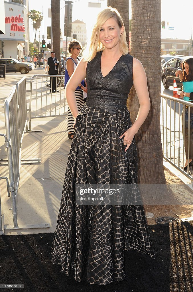 Actress Vera Farmiga arrives at the Los Angeles Premiere 'The Conjuring' at ArcLight Cinemas Cinerama Dome on July 15, 2013 in Hollywood, California.