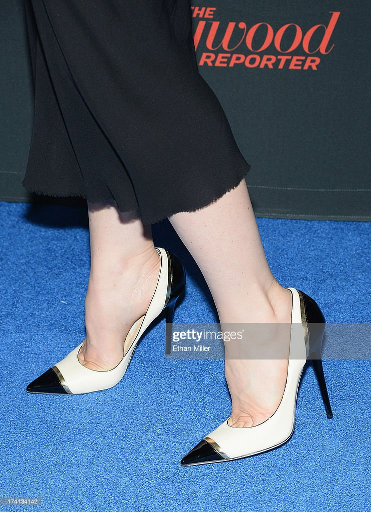 Actress Vera Farmiga (shoes detail) attends A&E's 'Bates Motel' party during Comic-Con International 2013 at Gang Kitchen on July 20, 2013 in San Diego, California.