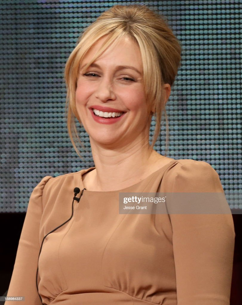 Actress <a gi-track='captionPersonalityLinkClicked' href=/galleries/search?phrase=Vera+Farmiga&family=editorial&specificpeople=227012 ng-click='$event.stopPropagation()'>Vera Farmiga</a> attends A&E's 'Bates Motel' TCA Panel at the Langham Hotel on January 4, 2013 in Pasadena, California.