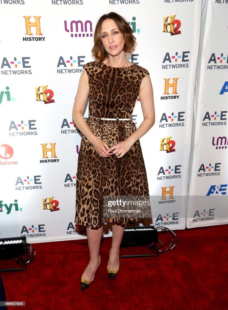 Actress <a gi-track='captionPersonalityLinkClicked' href=/galleries/search?phrase=Vera+Farmiga&family=editorial&specificpeople=227012 ng-click='$event.stopPropagation()'>Vera Farmiga</a> attends the 2014 A+E Networks Upfront at Park Avenue Armory on May 8, 2014 in New York City.