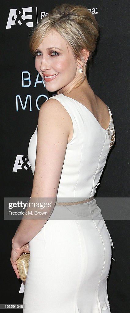 Actress <a gi-track='captionPersonalityLinkClicked' href=/galleries/search?phrase=Vera+Farmiga&family=editorial&specificpeople=227012 ng-click='$event.stopPropagation()'>Vera Farmiga</a> attends the Premiere of A&E Network's 'Bates Motel' at the Soho House West Hollywood, on March 12, 2013 in West Hollywood, California.
