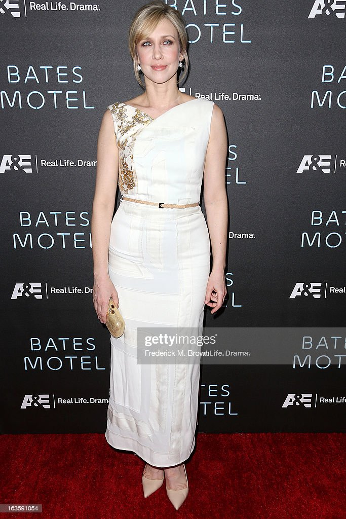 Actress Vera Farmiga attends the Premiere of A&E Network's 'Bates Motel' at the Soho House West Hollywood, on March 12, 2013 in West Hollywood, California.