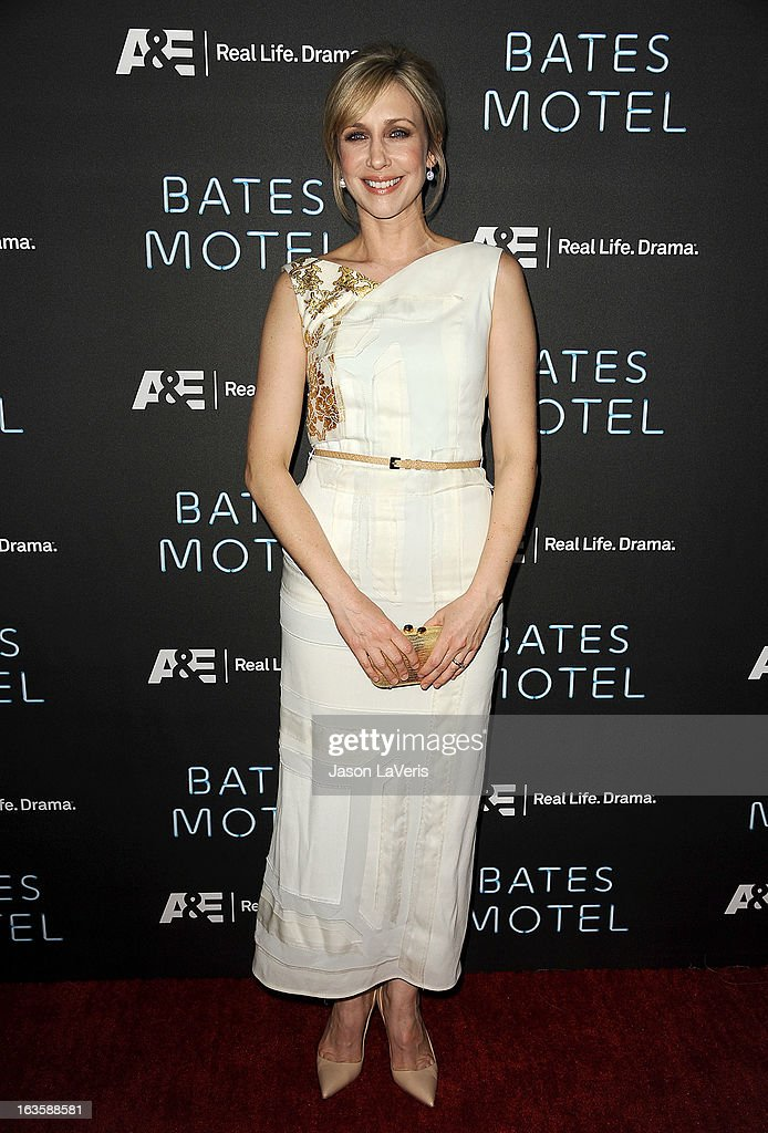 Actress <a gi-track='captionPersonalityLinkClicked' href=/galleries/search?phrase=Vera+Farmiga&family=editorial&specificpeople=227012 ng-click='$event.stopPropagation()'>Vera Farmiga</a> attends the premiere of 'Bates Motel' at Soho House on March 12, 2013 in West Hollywood, California.