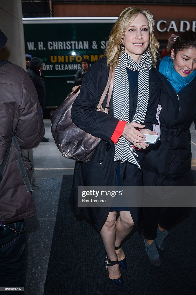 Actress Vera Farmiga enters the 'Today Show' taping at the NBC Rockefeller Center Studios on March 18, 2013 in New York City.