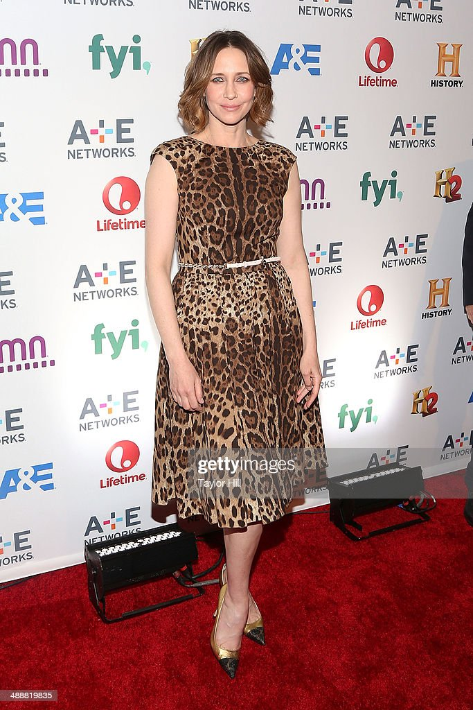Actress <a gi-track='captionPersonalityLinkClicked' href=/galleries/search?phrase=Vera+Farmiga&family=editorial&specificpeople=227012 ng-click='$event.stopPropagation()'>Vera Farmiga</a> of Bates Motel attends the 2014 A+E Network Upfronts at Park Avenue Armory on May 8, 2014 in New York City.