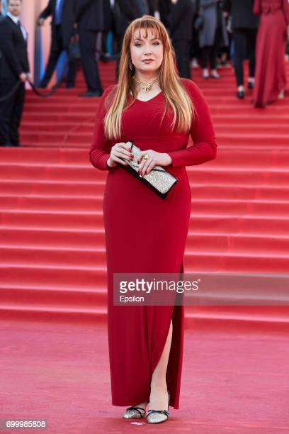 Actress Vera Sotnikova attends opening of the 39th Moscow International Film Festival outside the Karo 11 Oktyabr Cinema on June 22 2017 in Moscow...