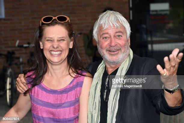 Actress Verena Buratti and Rinaldo Talamonti arrive at the premiere of 'Ihre Beste Stunde' as closing movie of Munich Film Festival 2017 at Gasteig...