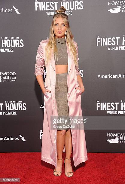 Actress Veronica Dunne arrives at the premiere of Disney's 'The Finest Hours' at TCL Chinese Theatre on January 25 2016 in Hollywood California