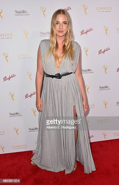 Actress Veronica Dunne attends a cocktail reception hosted by the Academy of Television Arts Sciences celebrating the Daytime Peer Group at Montage...