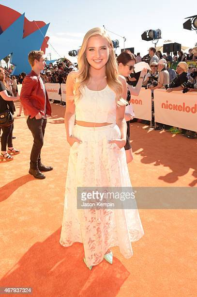 Actress Veronica Dunne attends Nickelodeon's 28th Annual Kids' Choice Awards held at The Forum on March 28 2015 in Inglewood California