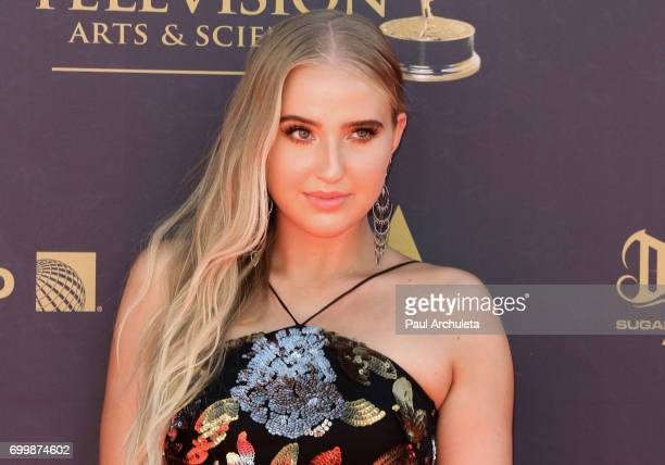Actress Veronica Dunne attends the 44th annual Daytime Emmy Awards at The Pasadena Civic Auditorium on April 30 2017 in Pasadena California