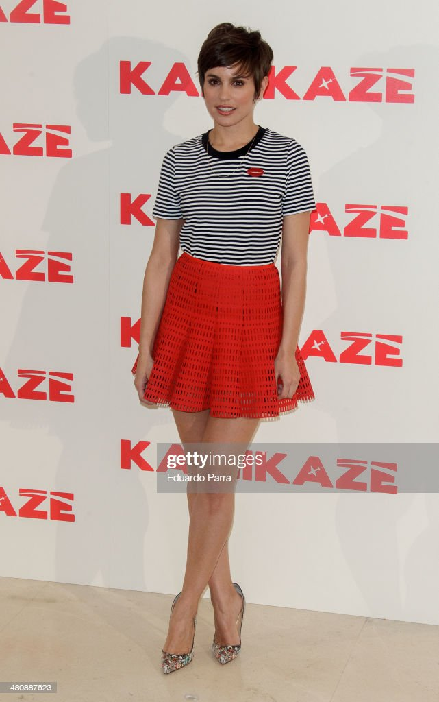 Actress Veronica Echegui attends 'Kamikaze' photocall at Hesperia hotel on March 27, 2014 in Madrid, Spain.