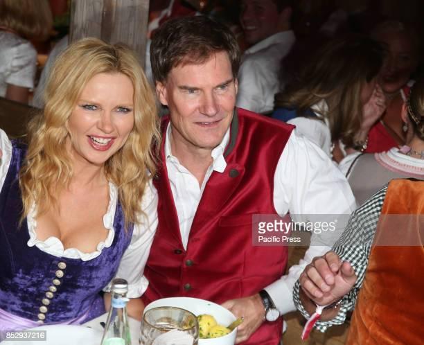 OKTOBERFEST / KAEFERZELT MUNICH BAVARIA GERMANY Actress Veronica Ferres and billionaire Carsten Maschmeyer Several celebrities came to the Kaeferzelt...