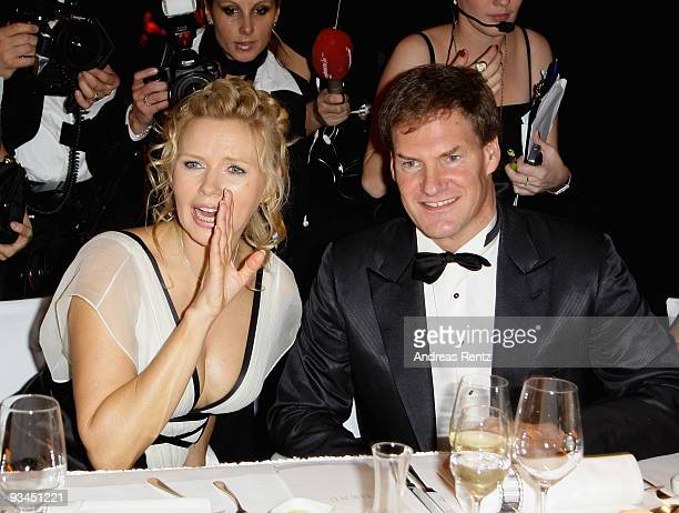 Actress Veronica Ferres and Carsten Maschmeyer attend the annual press ball 'Bundespresseball' at the Intercontinental Hotel in Berlin on November 27...