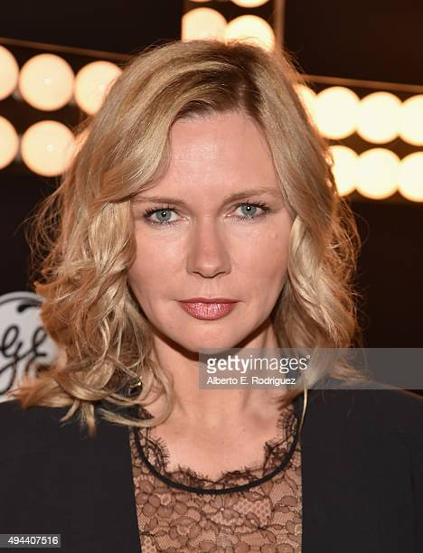 Actress Veronica Ferres attends National Geographic Channel's 'Breakthrough' world premiere event at The Pacific Design Center on October 26 2015 in...