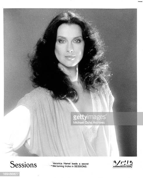 Actress Veronica Hamel poses for a portrait in circa 1983