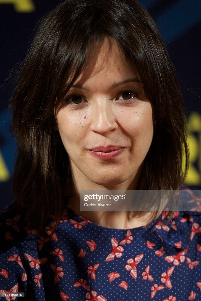 Actress Veronica Sanchez attends 'La Montana Rusa' photocall at Princesa cinema on March 12, 2012 in Madrid, Spain.