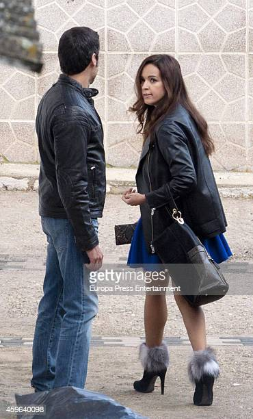 Actress Veronica Sanchez is seen on the set filming of 'Sin Identidad' on November 07 2014 in Madrid Spain
