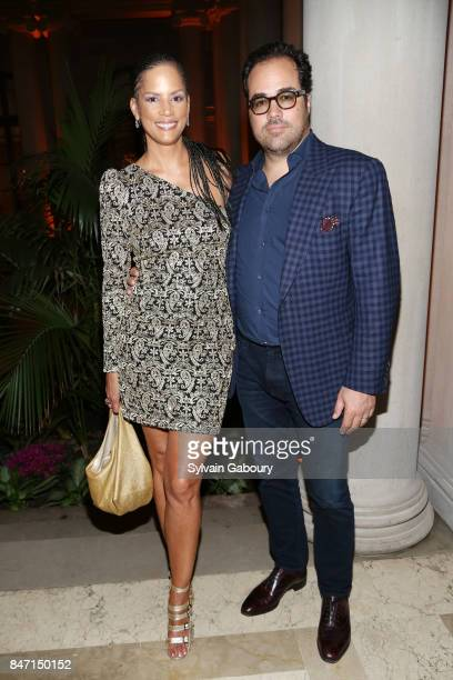 Actress Veronica Webb and Chris Del Gatto attend the premiere of 'Manolo The Boy Who Made Shoes for Lizards' hosted by Manolo Blahnik with The Cinema...